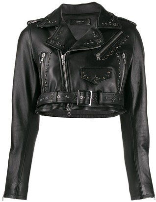 Amiri Cropped Biker Jacket