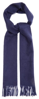 Paul Smith Fringed Cashmere Scarf - Mens - Blue
