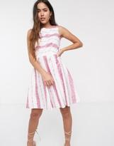 Closet London Closet stripe skater dress