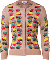 L'Wren Scott Blush-Multi Sequined Hat Cashmere-Blend Cardigan