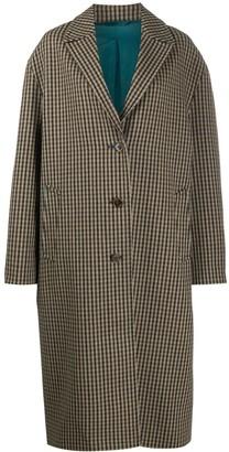 Acne Studios Oversized Checkered Coat