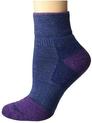 Darn Tough Vermont 1/4 Steely Midweight with Cushion w/ Full Cush Toe Box (Denim) Women's Crew Cut Socks Shoes