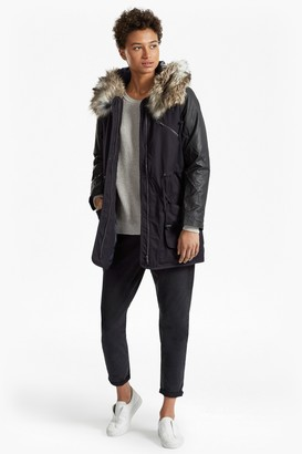 French Connection Snow Rhumba Faux Fur Hooded Coat