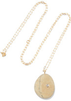Cvc Stones Delphina 18-karat Gold, Stone And Diamond Necklace - one size