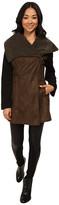 Sam Edelman Asymmetrical Faux Sherpa w/ Wool Sleeve and Color Block Jacket