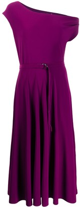 Norma Kamali One Shoulder Flared Dress