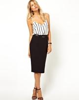 Asos Belted Pencil Skirt in Longer Length