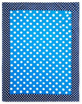 Polka Dots Terry Velour Beach Towel (For Two)