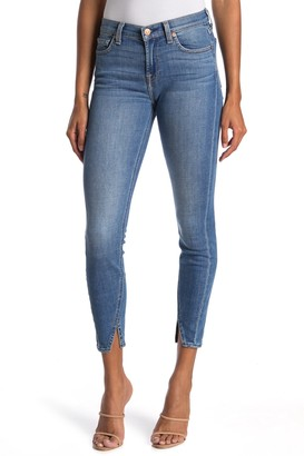 7 For All Mankind Gwenevere Ankle Split Hem Skinny Jeans