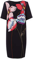 Fenn Wright Manson Naples Flower Placement Dress, Black/Multi