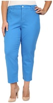 NYDJ Plus Size Plus Size Ira Relaxed Ankle Jeans in Chateau Blue
