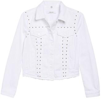 J Brand Slim Studded Denim Trucker Jacket