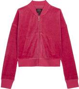Juicy Couture Laurel velour bomber jacket