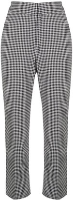 Veronica Beard Cropped Check Trousers