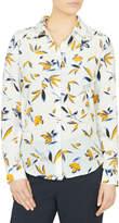 David Lawrence Azalea Print Long Sleeve Shirt