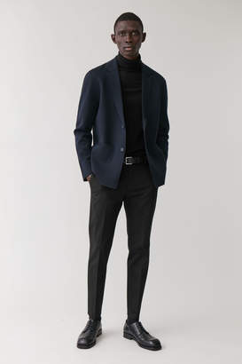 Cos Knitted Wool-Mix Blazer