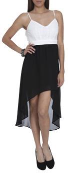 Wet Seal WetSeal 2fer Crochet High-Low Dress Black