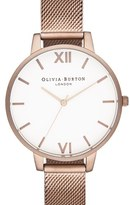 Olivia Burton Women's 'Big Dial' Mesh Strap Watch, 38Mm