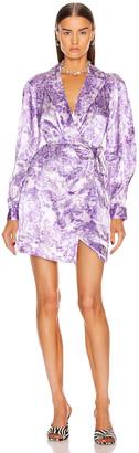 Ganni Heavy Satin Dress in Violet Tulip | FWRD
