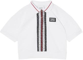 BURBERRY KIDS Monogram Print Polo Shirt