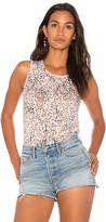 Michael Stars Leopard Tank in White.