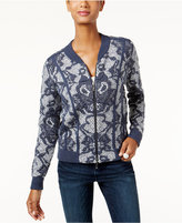 INC International Concepts Knit-Pattern Bomber Cardigan, Only at Macy's