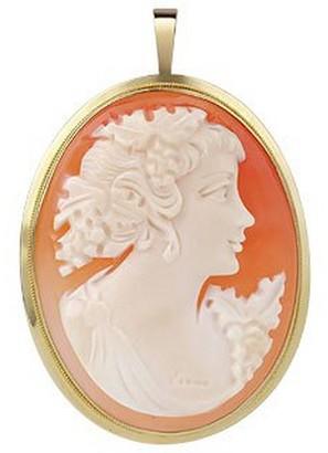 Del Gatto Woman Cornelian Cameo Pendant / Pin