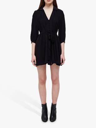 French Connection Bita Drape Dress, Black
