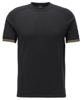 HUGO BOSS Regular-fit T-shirt with body-mapping mesh