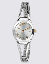 M&S Collection Round Face Open Bar Bracelet Watch