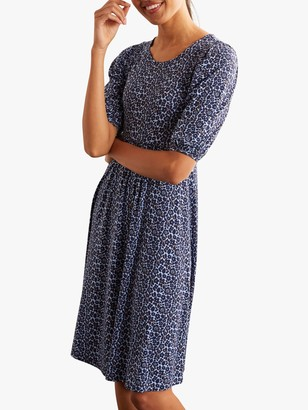 Boden Lily Puff Sleeve Dress, Frosted Blue