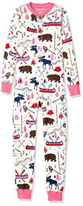 Hatley Little Blue House Girl's All in One Union Sleepsuits Onesie,(Size:2)