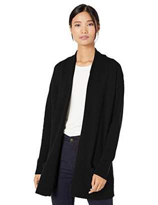 Goodthreads Wool Blend Jersey Stitch Cocoon Sweater Cardigan, Grey, XXL