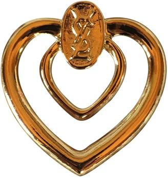 Saint Laurent Anneaux de foulards Gold Other Scarves