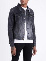 Saint Laurent Heart patch-embroidered denim jacket