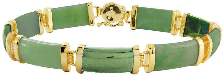FINE JEWELRY Jade Bracelet 14K/Sterling Silver