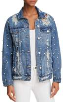 Sunset + Spring Embellished Distressed Denim Jacket - 100% Exclusive