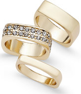 Thalia Sodi Gold-Tone 3-Pc. Set Crystal Stackable Rings, Only at Macy's