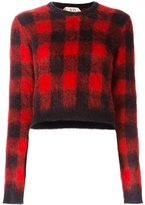 No.21 checked cropped jumper