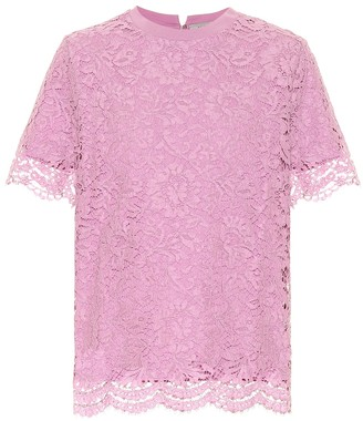 Valentino Cotton and lace top