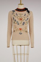 RED Valentino Wool floral Sweater