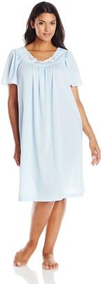 Shadowline Women's Plus-Size Petals 40 Inch Short Flutter Sleeve Waltz Gown