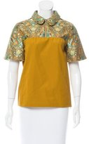 Creatures of the Wind Boxy Brocade-Paneled Blouse w/ Tags