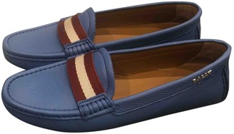 Bally Blue Leather Flats