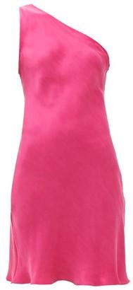 Worme - The One Shoulder Silk Mini Dress - Pink