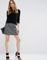 Asos Textured Skirt with Fringe Detail