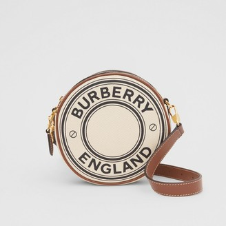 Burberry Logo Graphic Canvas and Leather Louise Bag