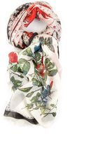 Alexander McQueen Floral Print Scarf