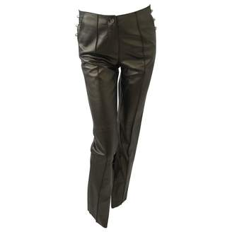 Gianfranco Ferre Metallic Leather Trousers
