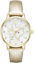 Kate Spade Women's Metro Texas Gold-Tone Leather Strap Watch 34mm KSW1299